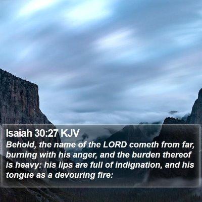 Isaiah 30:27 KJV Bible Verse Image