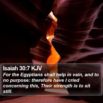 Isaiah 30:7 KJV Bible Verse Image