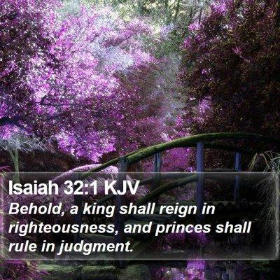 Isaiah 32:1 KJV Bible Verse Image