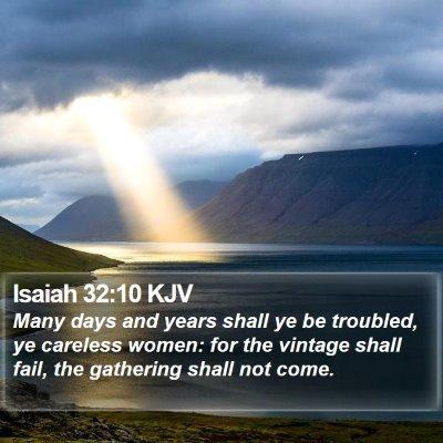 Isaiah 32:10 KJV Bible Verse Image