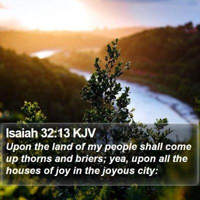 Isaiah 32:13 KJV Bible Verse Image