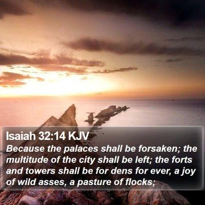 Isaiah 32:14 KJV Bible Verse Image