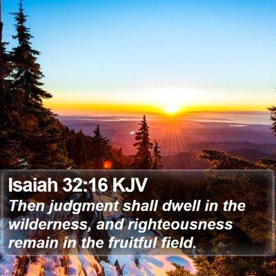 Isaiah 32:16 KJV Bible Verse Image