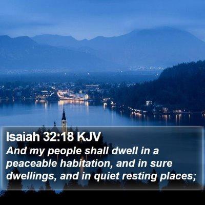 Isaiah 32:18 KJV Bible Verse Image