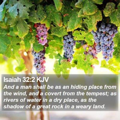 Isaiah 32:2 KJV Bible Verse Image