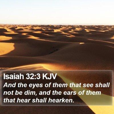 Isaiah 32:3 KJV Bible Verse Image