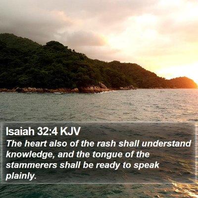 Isaiah 32:4 KJV Bible Verse Image
