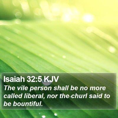 Isaiah 32:5 KJV Bible Verse Image