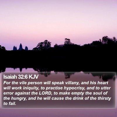 Isaiah 32:6 KJV Bible Verse Image