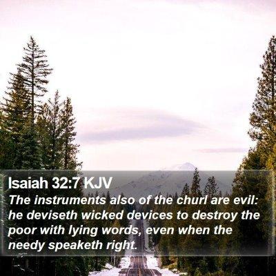 Isaiah 32:7 KJV Bible Verse Image