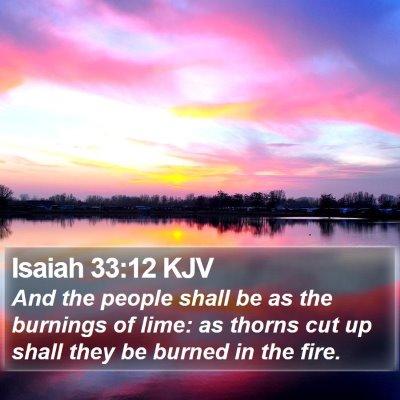 Isaiah 33:12 KJV Bible Verse Image