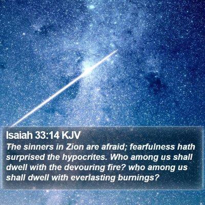 Isaiah 33:14 KJV Bible Verse Image