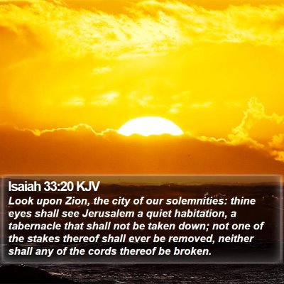 Isaiah 33:20 KJV Bible Verse Image