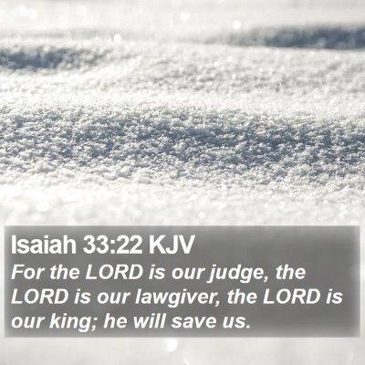 Isaiah 33:22 KJV Bible Verse Image
