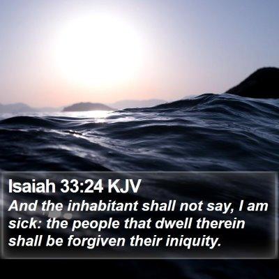 Isaiah 33:24 KJV Bible Verse Image