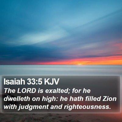 Isaiah 33:5 KJV Bible Verse Image