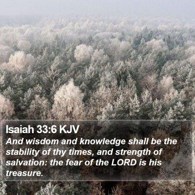 Isaiah 33:6 KJV Bible Verse Image