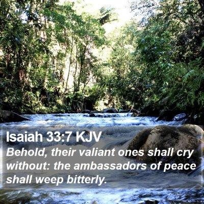 Isaiah 33:7 KJV Bible Verse Image