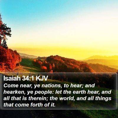 Isaiah 34:1 KJV Bible Verse Image