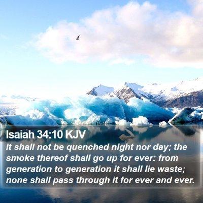 Isaiah 34:10 KJV Bible Verse Image