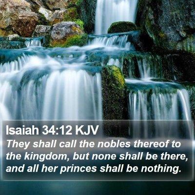 Isaiah 34:12 KJV Bible Verse Image