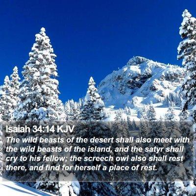 Isaiah 34:14 KJV Bible Verse Image