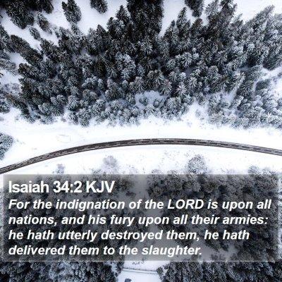 Isaiah 34:2 KJV Bible Verse Image