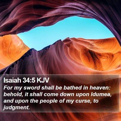 Isaiah 34:5 KJV Bible Verse Image