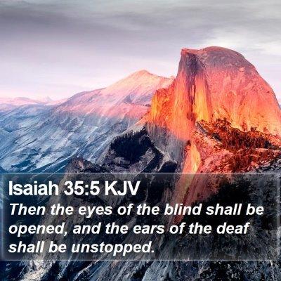 Isaiah 35:5 KJV Bible Verse Image
