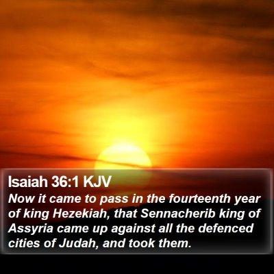 Isaiah 36:1 KJV Bible Verse Image