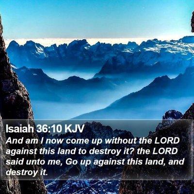 Isaiah 36:10 KJV Bible Verse Image
