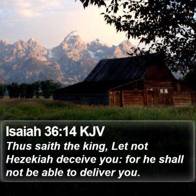 Isaiah 36:14 KJV Bible Verse Image