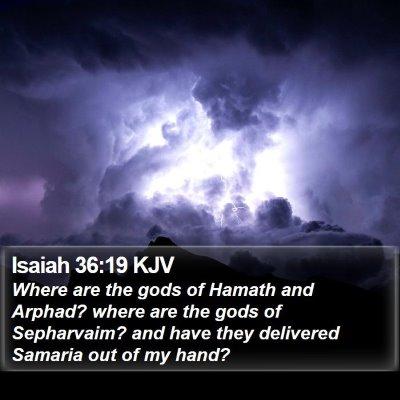 Isaiah 36:19 KJV Bible Verse Image