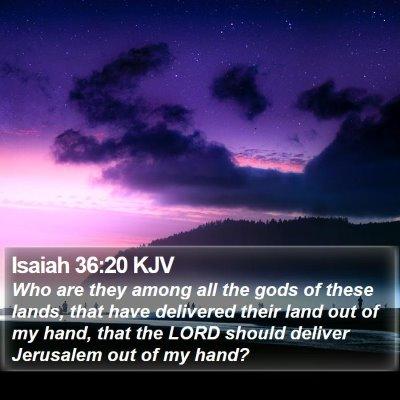 Isaiah 36:20 KJV Bible Verse Image