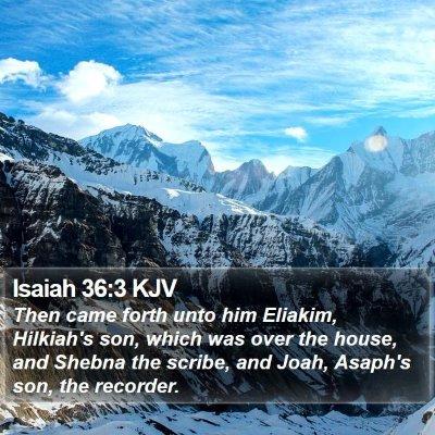 Isaiah 36:3 KJV Bible Verse Image