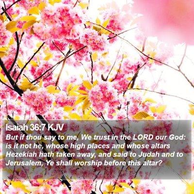 Isaiah 36:7 KJV Bible Verse Image