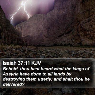 Isaiah 37:11 KJV Bible Verse Image