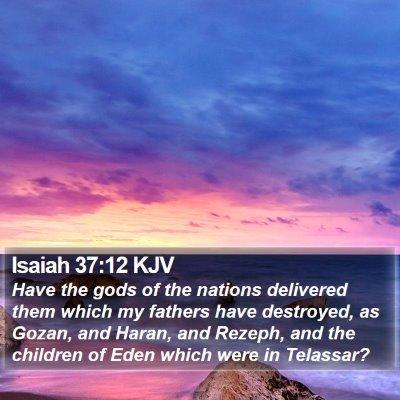 Isaiah 37:12 KJV Bible Verse Image