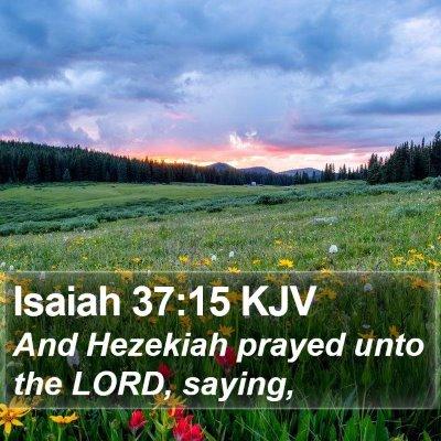 Isaiah 37:15 KJV Bible Verse Image