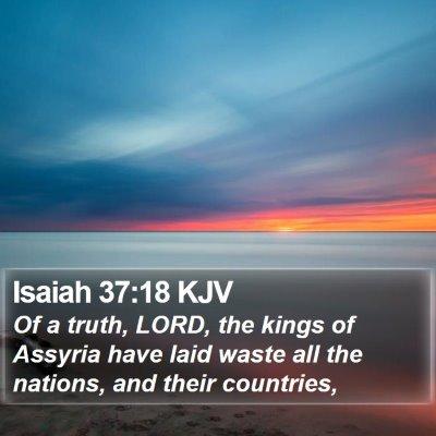 Isaiah 37:18 KJV Bible Verse Image