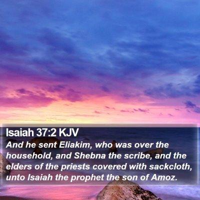 Isaiah 37:2 KJV Bible Verse Image