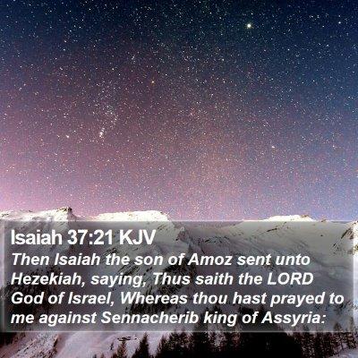 Isaiah 37:21 KJV Bible Verse Image