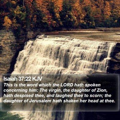 Isaiah 37:22 KJV Bible Verse Image