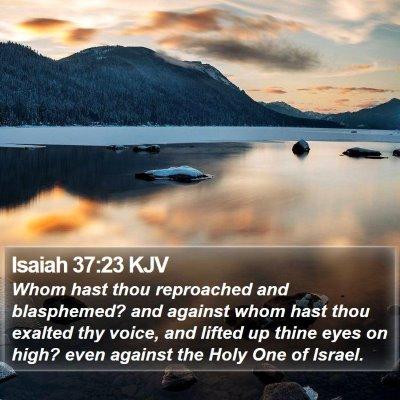 Isaiah 37:23 KJV Bible Verse Image