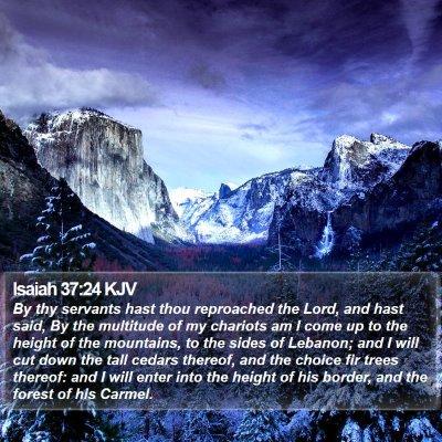 Isaiah 37:24 KJV Bible Verse Image