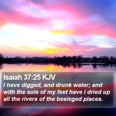 Isaiah 37:25 KJV Bible Verse Image