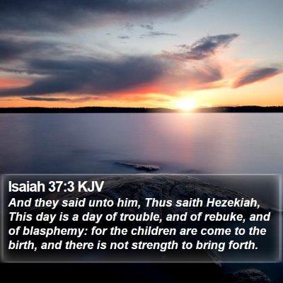 Isaiah 37:3 KJV Bible Verse Image