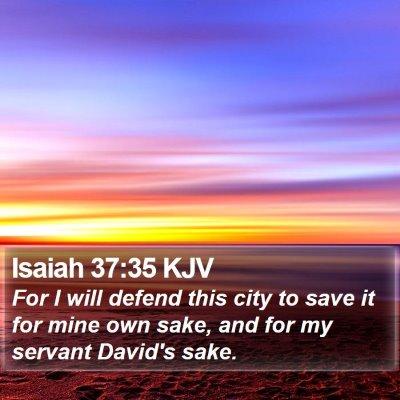 Isaiah 37:35 KJV Bible Verse Image