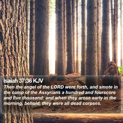 Isaiah 37:36 KJV Bible Verse Image