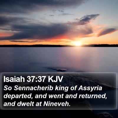 Isaiah 37:37 KJV Bible Verse Image